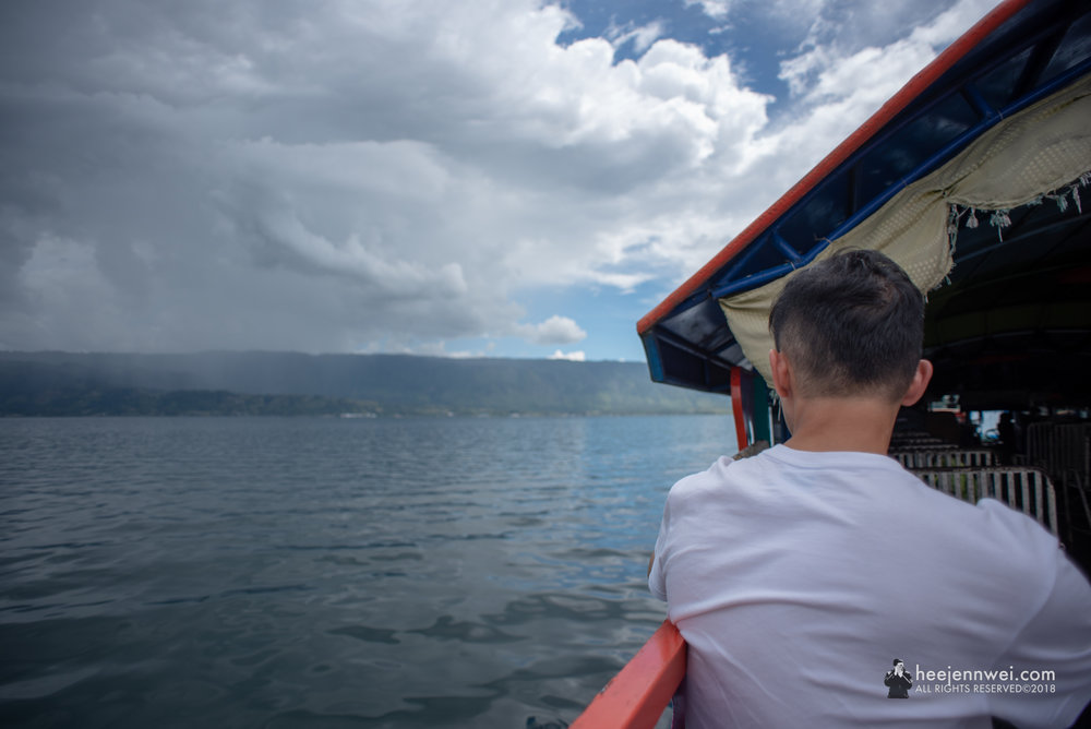 At Lake Toba, ferry ride from Parapat town to Pulau Samosir (Tuk Tuk Town).