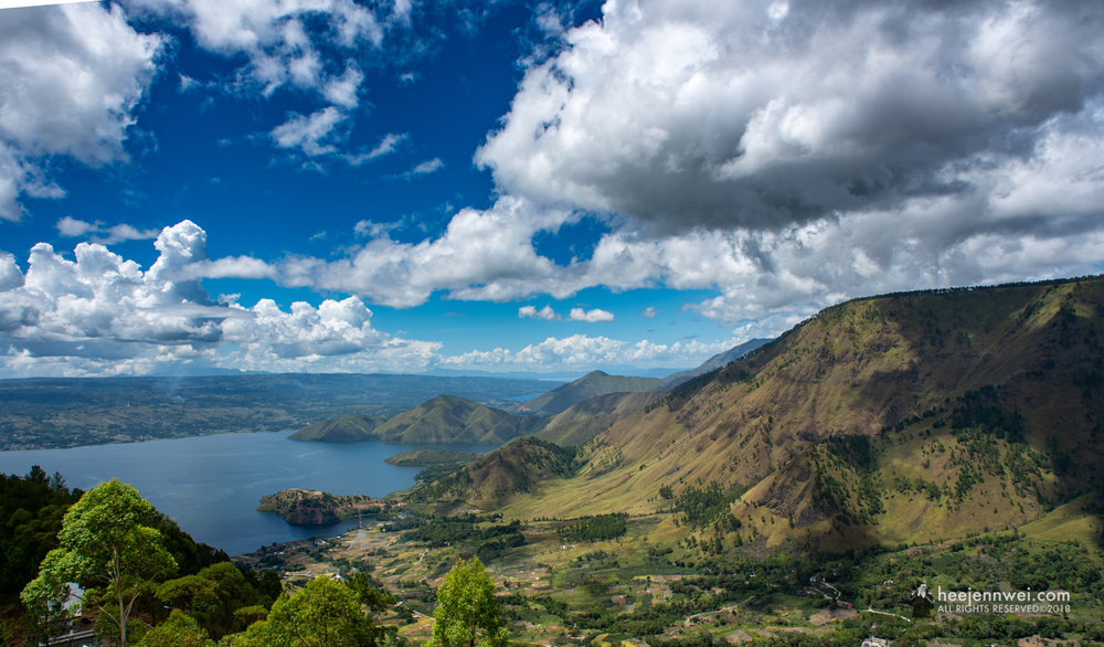 Lake Toba view from Tele Observation Tower,