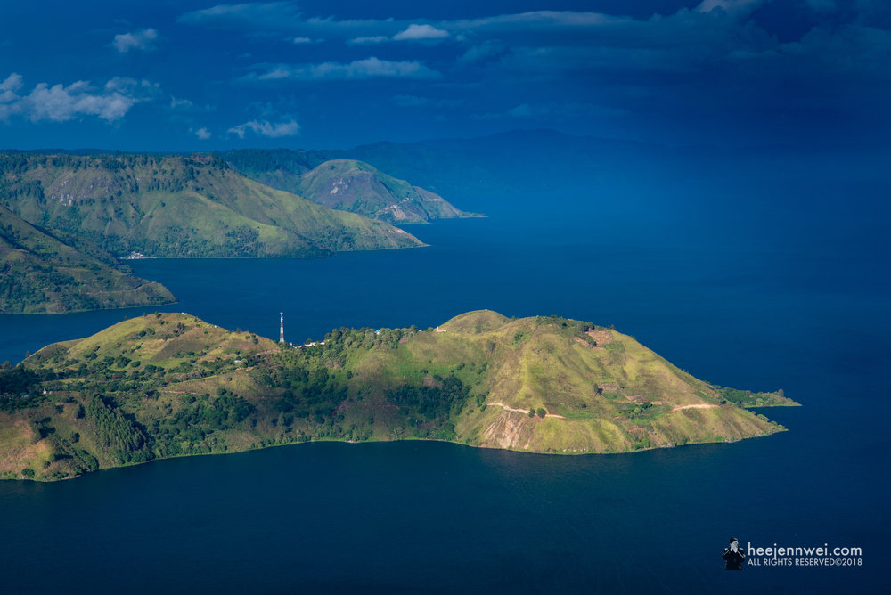 The scenic view of Lake Toba.