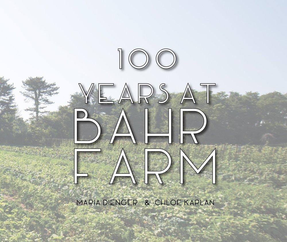 100 Years at Bahr Farm book