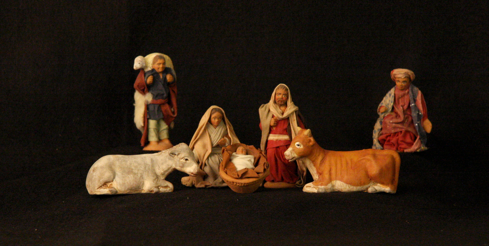 Caltagirone, a town on the island of Sicily, has long been famous as a center for the production of ceramics. Nativity figures have been made here since the Middle Ages, and today many of the workshops continue this tradition. This set was purchased in Caltagirone around the year 2000. Collection of Glencairn Museum, gift of Rita Bonaccorsi Bocher.