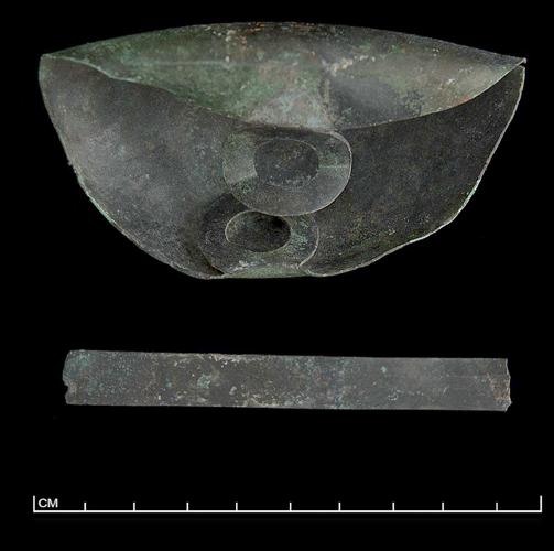 Figure 12a: Miniature tripod cauldron from the Sanctuary of Zeus, Mt. Lykaion. MTL 178. Photograph courtesy of the Mt. Lykaion Excavation and Survey Project and David Gilman Romano, University of Arizona.