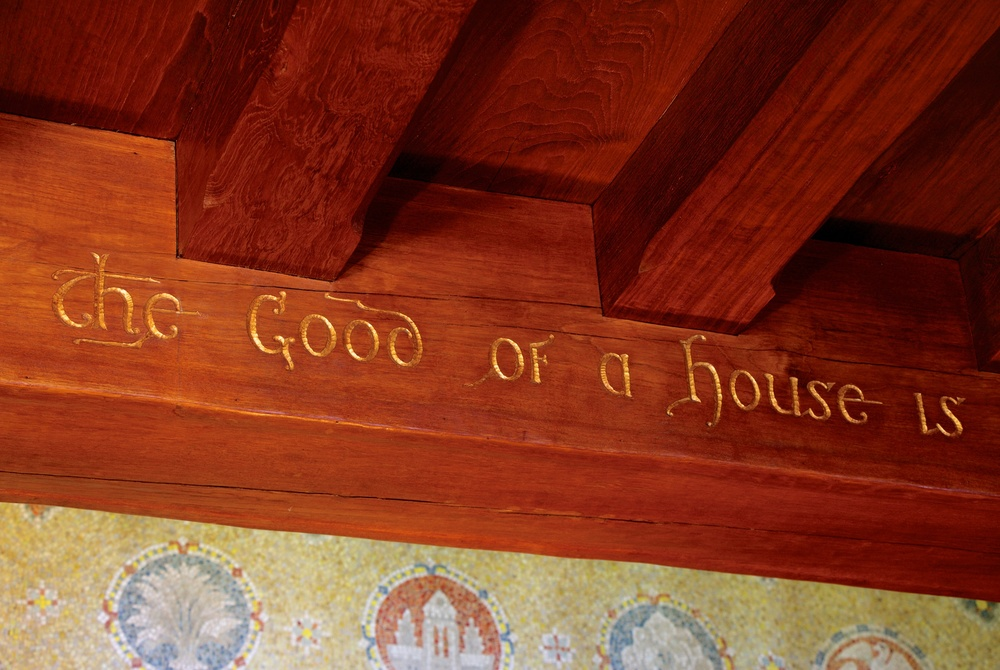 Figure 7: Inscription on a teak beam in Glencairn's entryway.