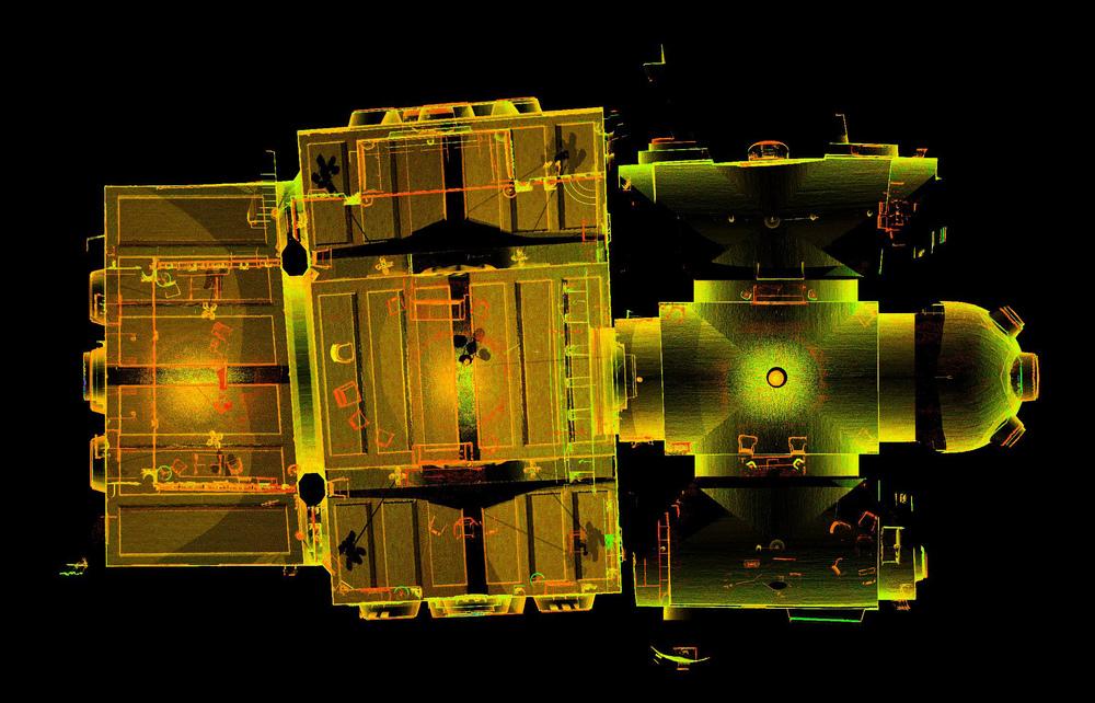 Figure 15: Glencairn Museum, laser scan: plan.