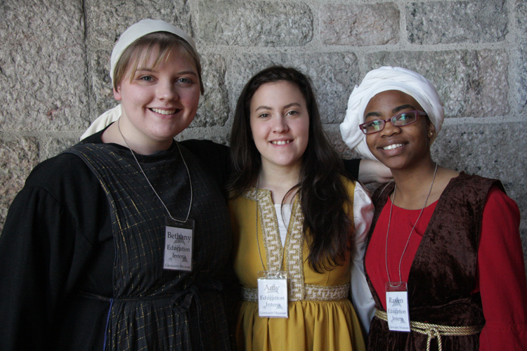 Glencairn 2011-2012 Interns at Medieval Festival