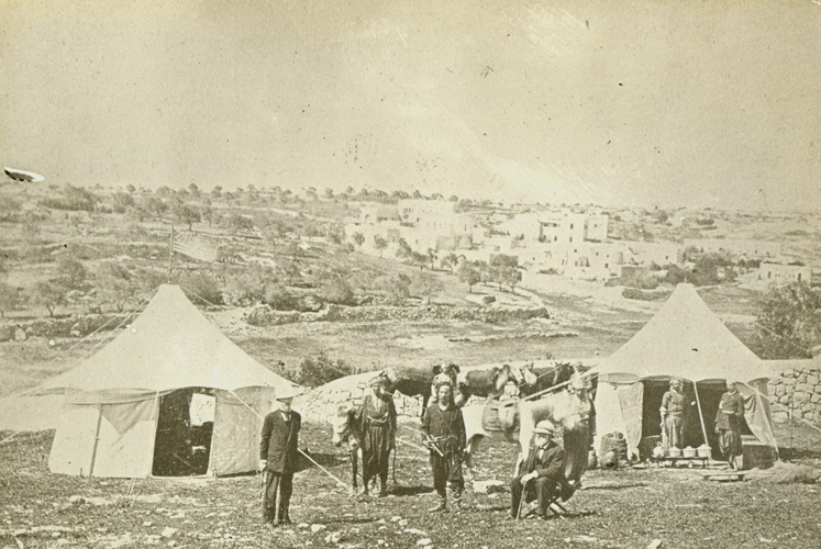 William Henry Benade and John Pitcairn near the Jaffa Gate, Jerusalem, 1878
