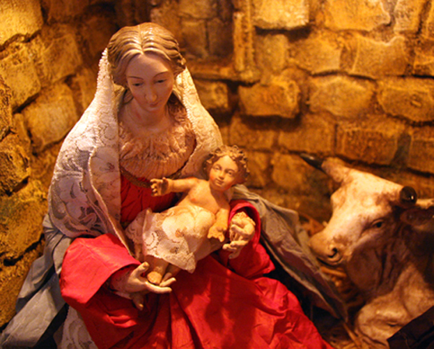 Mary and the Christ Child from Neapolitan Presepio