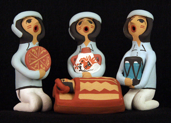 Wise Men from Jemez Pueblo Nativity Set