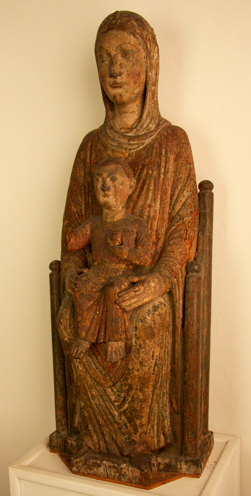 Twelfth-Century Statue of Mary and the Christ Child