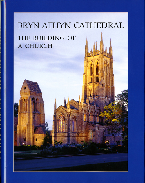 Dust jacket cover for Bryn Athyn Cathedral: The Building of a Church by E. Bruce Glenn. Photograph by Hal Conroy.
