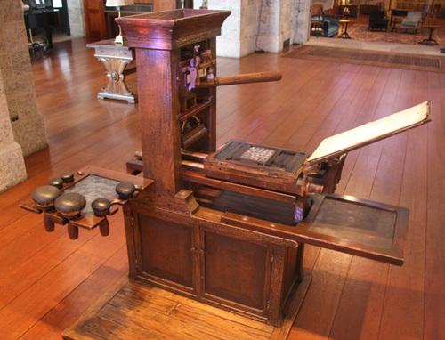 Glencairns Fenix Press A Replica Gutenberg Era Printing Is Currently