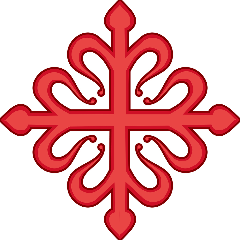 Figure 6: The emblem of the Order of Calatrava: a Greek cross with a fleur-de-lis at each point. Wikimedia Commons: http://ow.ly/zn3M302QylV