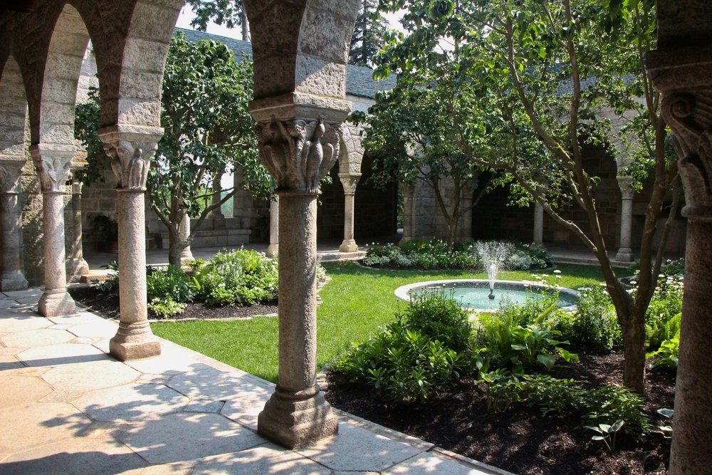 Glencairn's cloister as seen from the arcade on the northeast side.