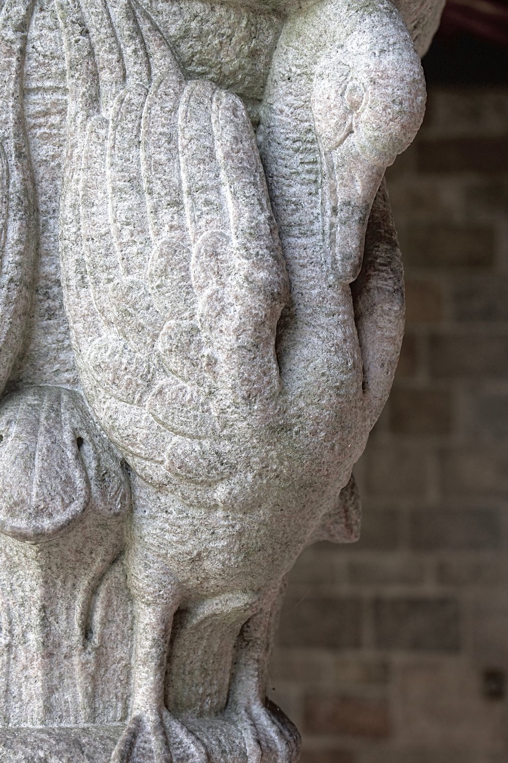 Figure 18: Cloister capital, west side: swan.