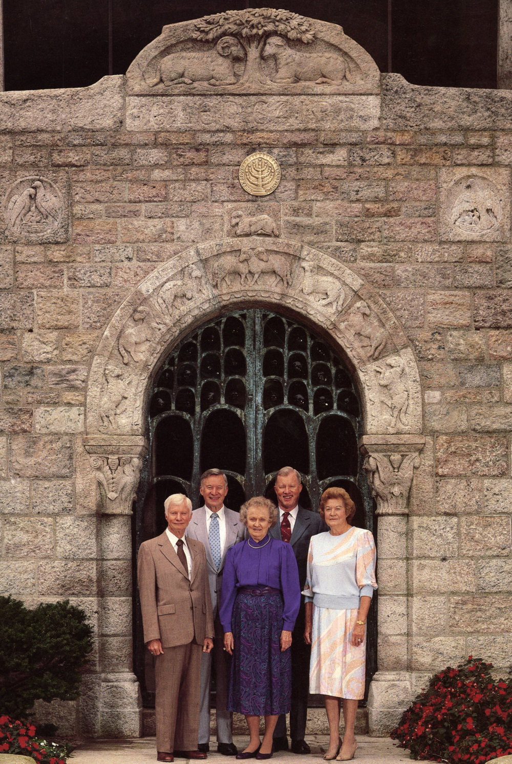 In the summer of 1989, Michael, Lachlan, Karen, Garthowen and Bethel Pitcairn posed in front of the main entrance to Glencairn.