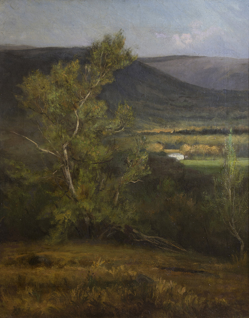 North Conway, New Hampshire, George Inness (1825-1894)  Oil on canvas (c. 1875; on loan from Gerald and Emily Jane Lemole)