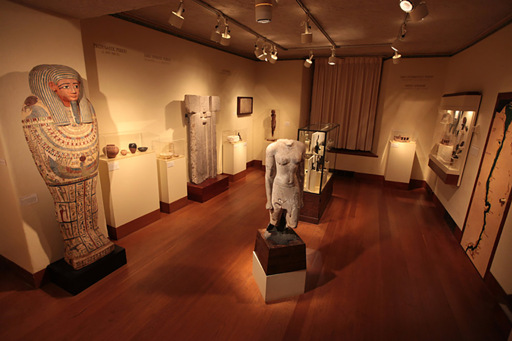 Figure 1: View of the Egyptian Gallery at Glencairn Museum, located in a former bedroom on the fourth floor.