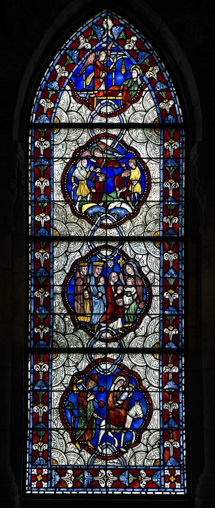 Figure 7:Lawrence Saint and Winfred Hyatt, Christmas Window in Glencairn's Chapel, 1928-1956.
