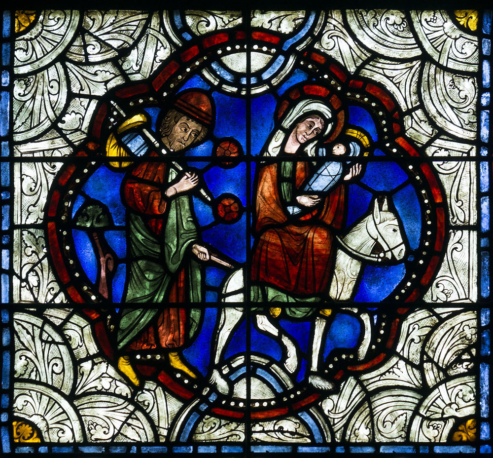 Figure 8:Detail of the Flight into Egypt medallion in Glencairn's Chapel.
