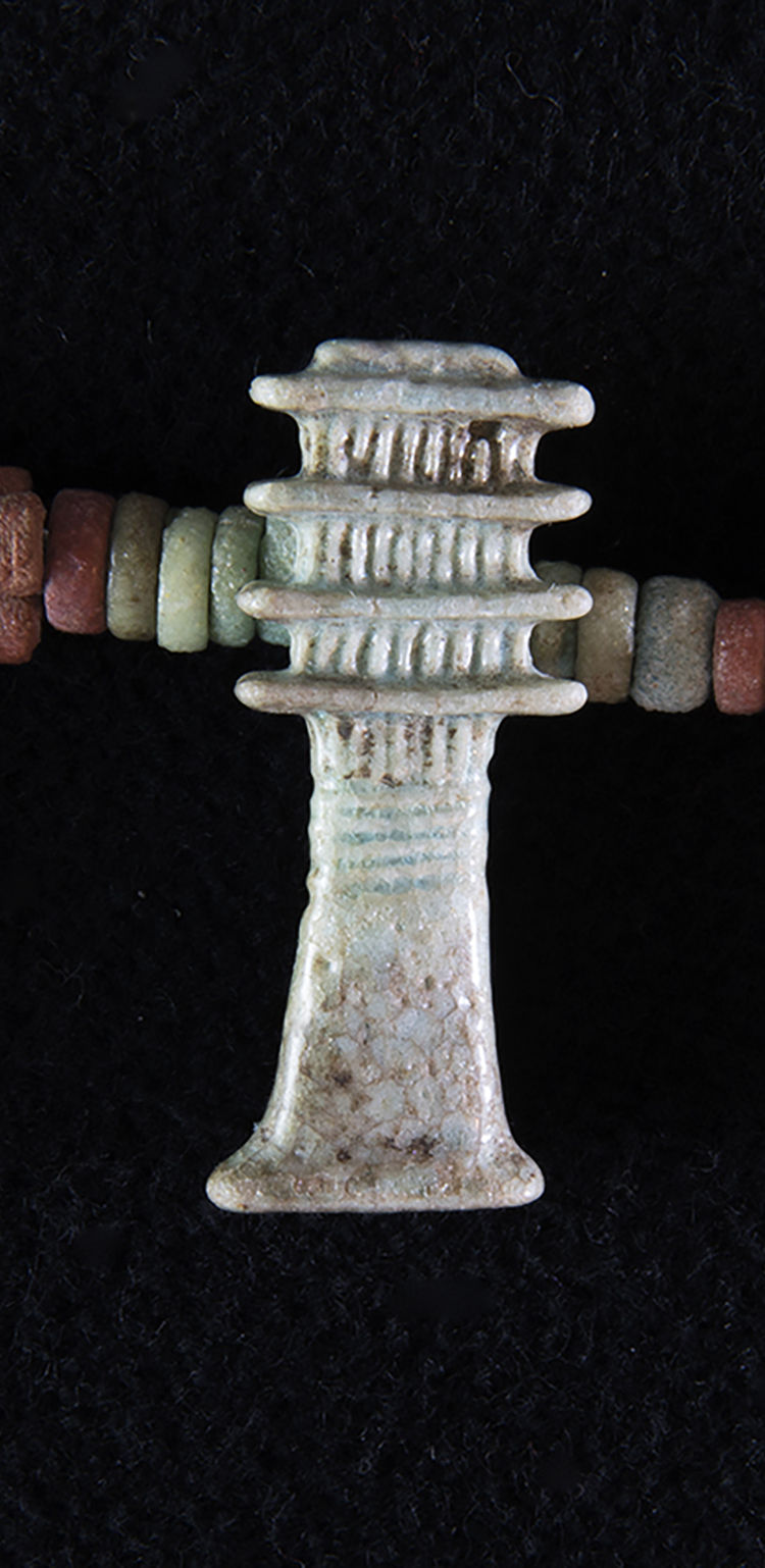 Figure 19:   Djed  Pillar .   Amulets of  djed  pillars (see Figure 18) are very common and were popular funerary talismans. Glencairn Museum 15.JW.574.