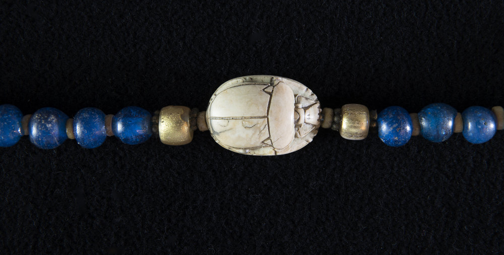 Figure 36: This realistically carved scarab amulet is made from stone (Glencairn 15.JW.569.