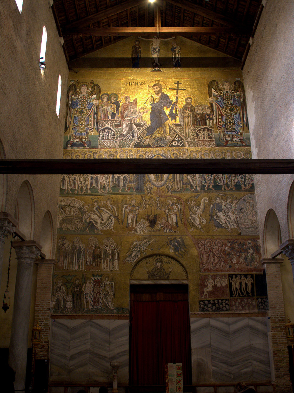 Figure 4: The Last Judgment is depicted in this eleventh-century mosaic on the west wall of the basilica church of Santa Maria Assunta at Torcello, Italy. Photo © User: Ismoon / Wikimedia Commons / CC-BY-SA-3.0.