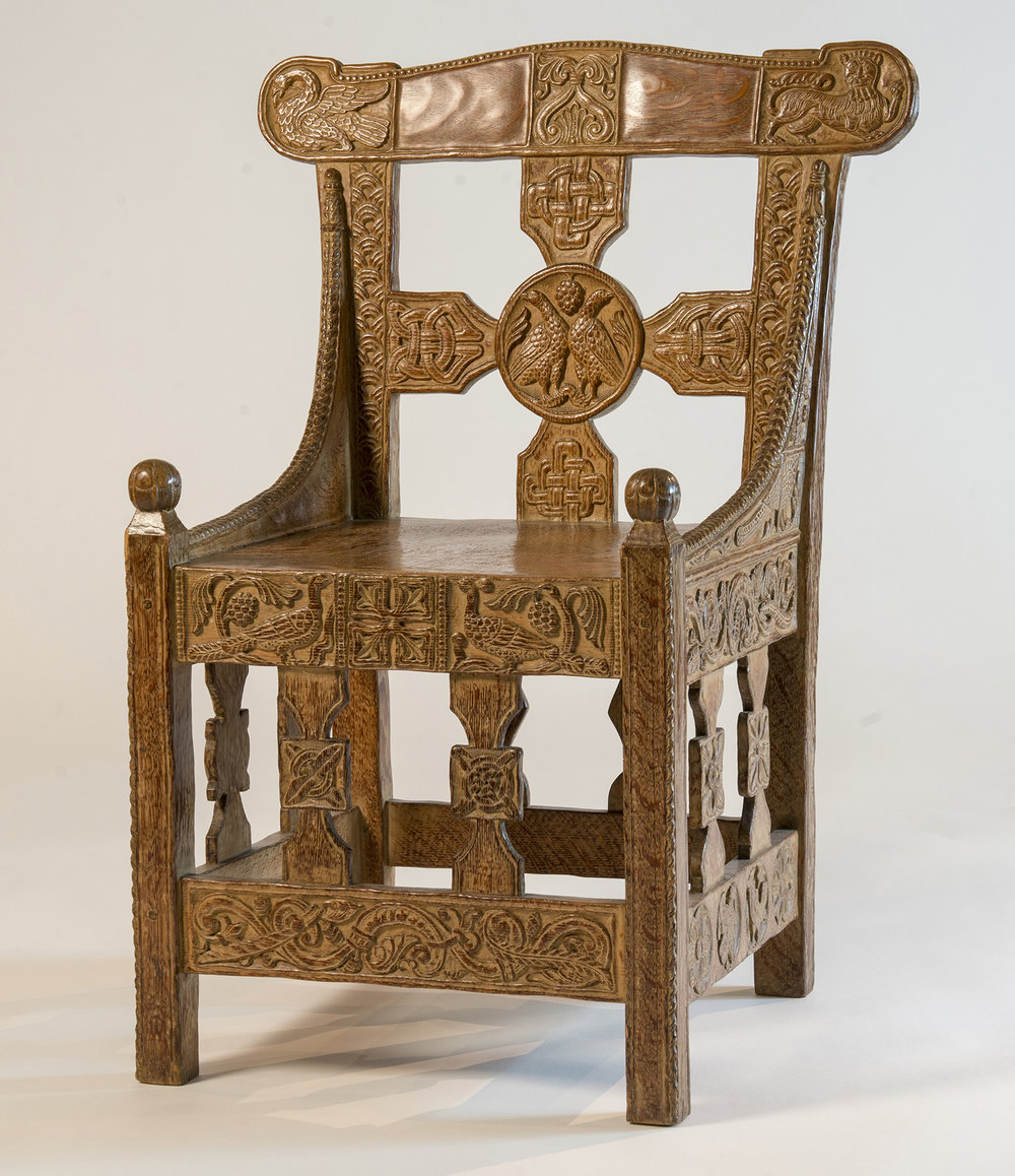 There Is So Much Artwork To Appreciate At Glencairn That Visitors Often  Pass By A Certain Elaborately Carved Oak Chair On The First Floor Without  Giving It ...
