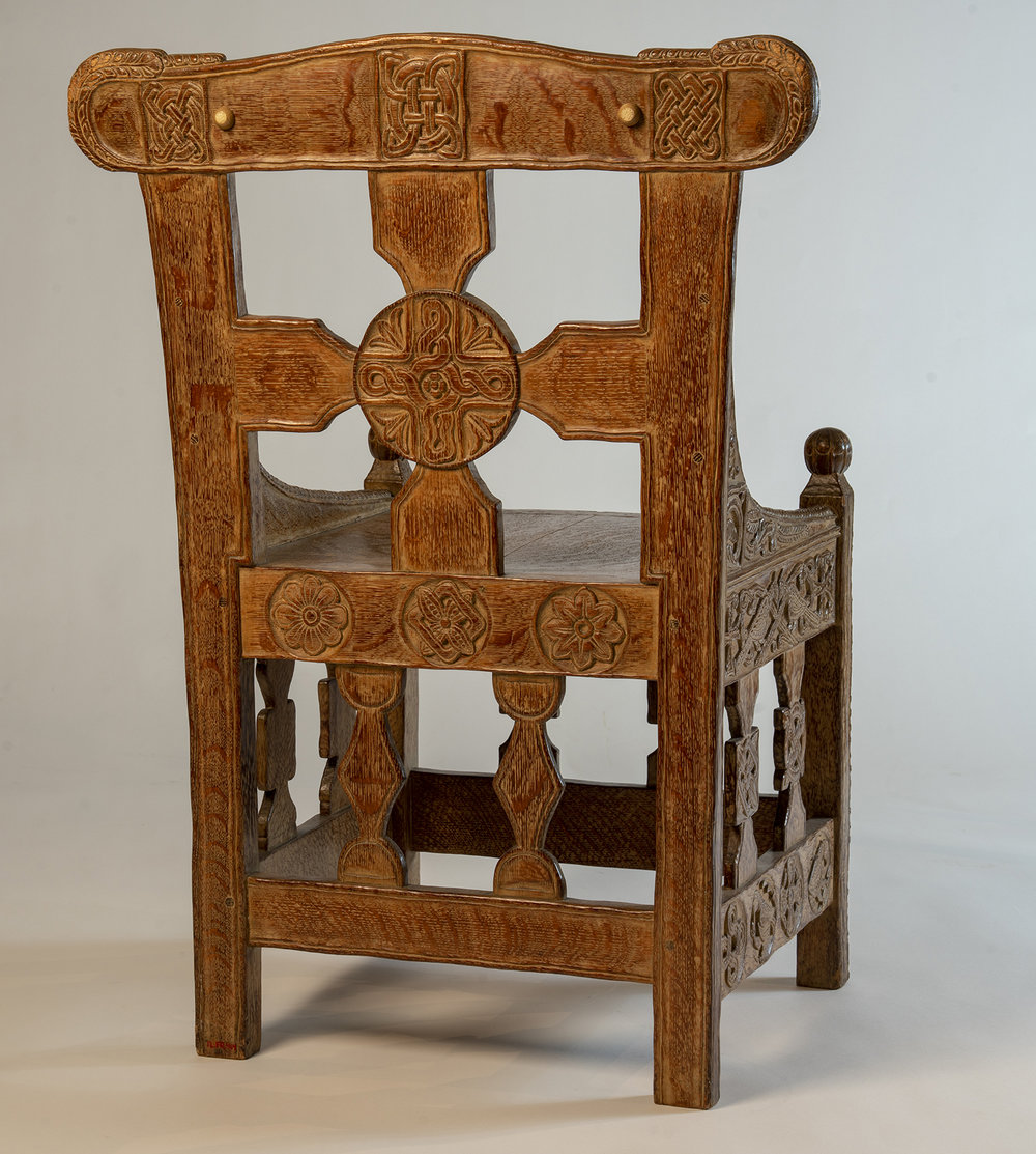Figure 13: The back of Glencairn's chair.