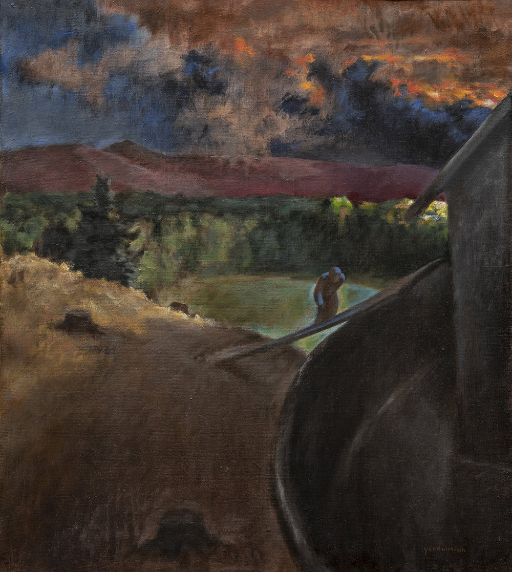 Figure 4:  Noah Entering the Ark .  Genesis 7:7 . Oil, 1981. On loan from Siri Yardumian Hurst.