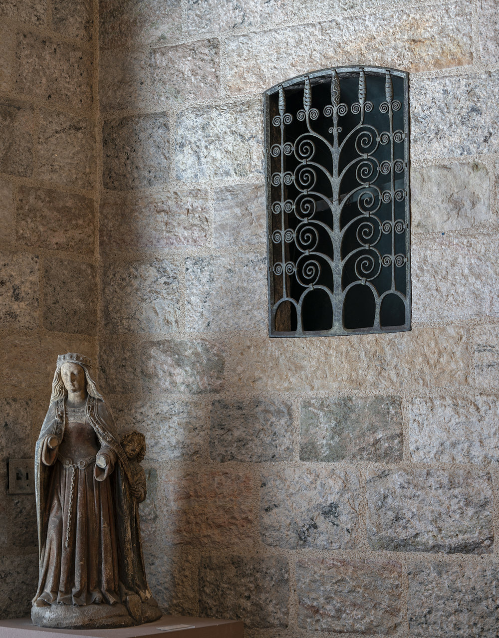 Figure 12: One of the Monel metal heating duct grills in its present location in Glencairn's Upper Hall.