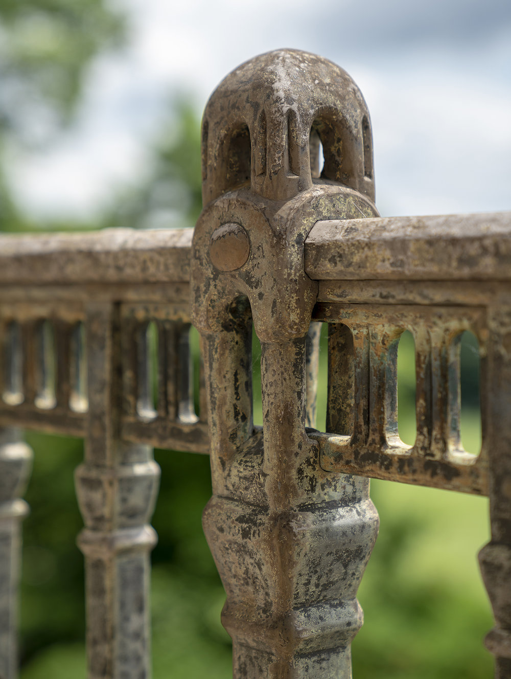 Figure 23: A detail of the remarkable metalwork skills used to create the Monel metal railing.
