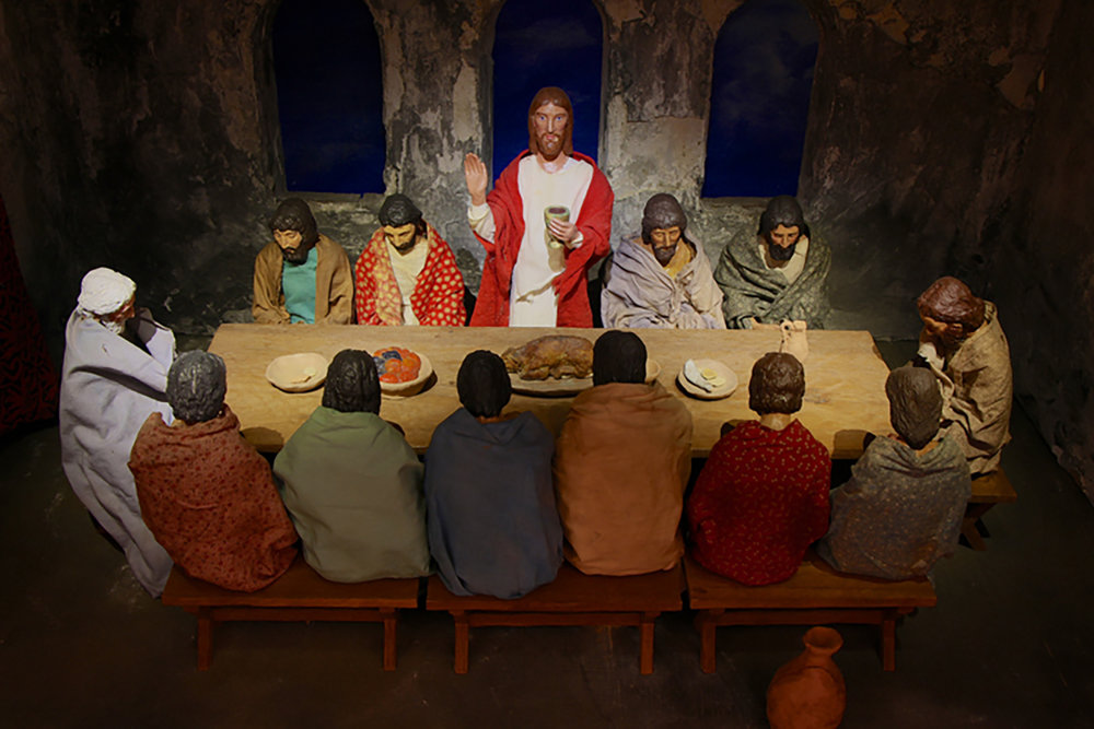 Winfred S. Hyatt Last Supper scene.