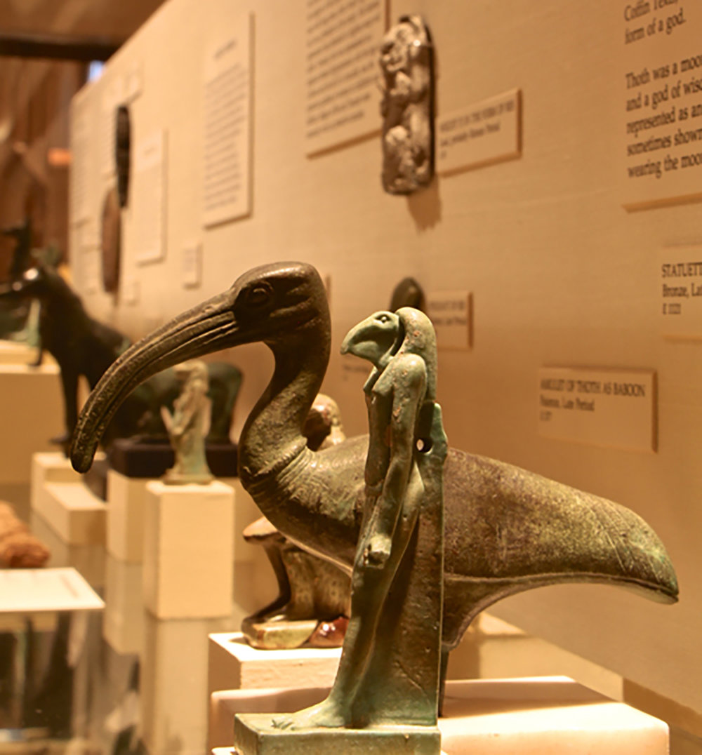 Figure 8: Objects from the Lanzone collection, now in Egyptian Pantheon exhibit in the Egyptian Gallery at Glencairn Museum.