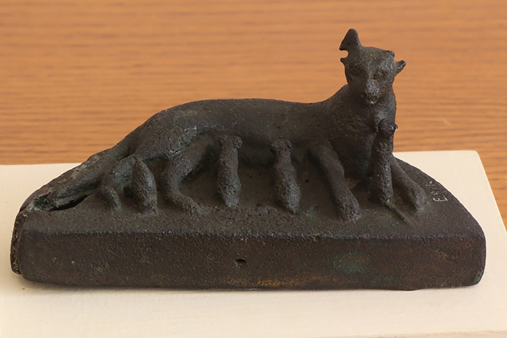 Figure 10: A bronze votive statuette of a nursing cat and her litter, Late Period (664-332 BCE). Glencairn Museum E971.