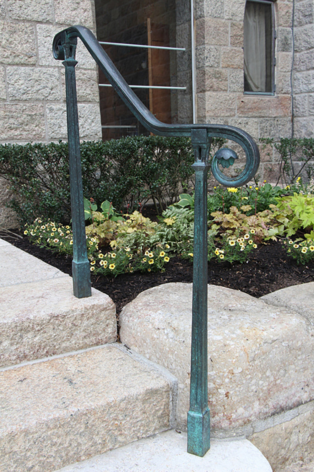 Figure 19: One of the new railings installed on Glencairn's front steps.