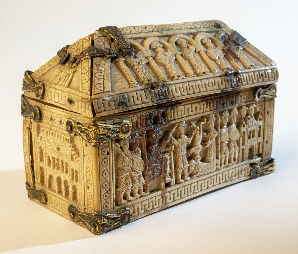 Figure 6:Box with Scenes from the Book of Kings, ivory, Spanish, early medieval (04.CR.49).