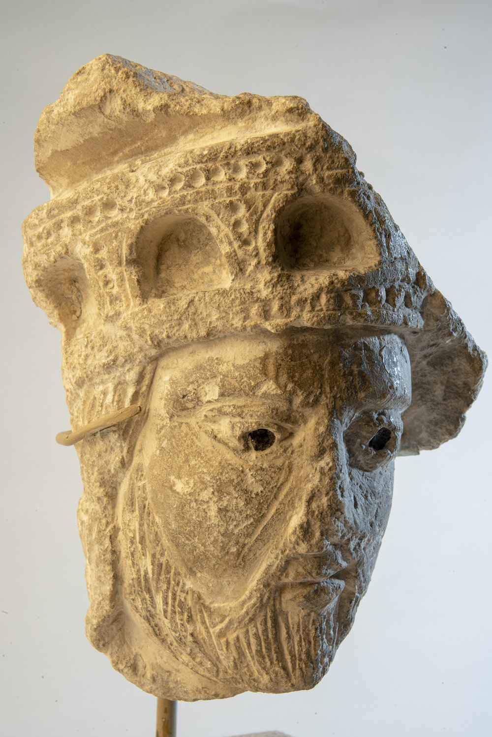Figure 16: Head of a King, limestone, from the Church of Saint-Lazare, Autun, France (09.SP.2).