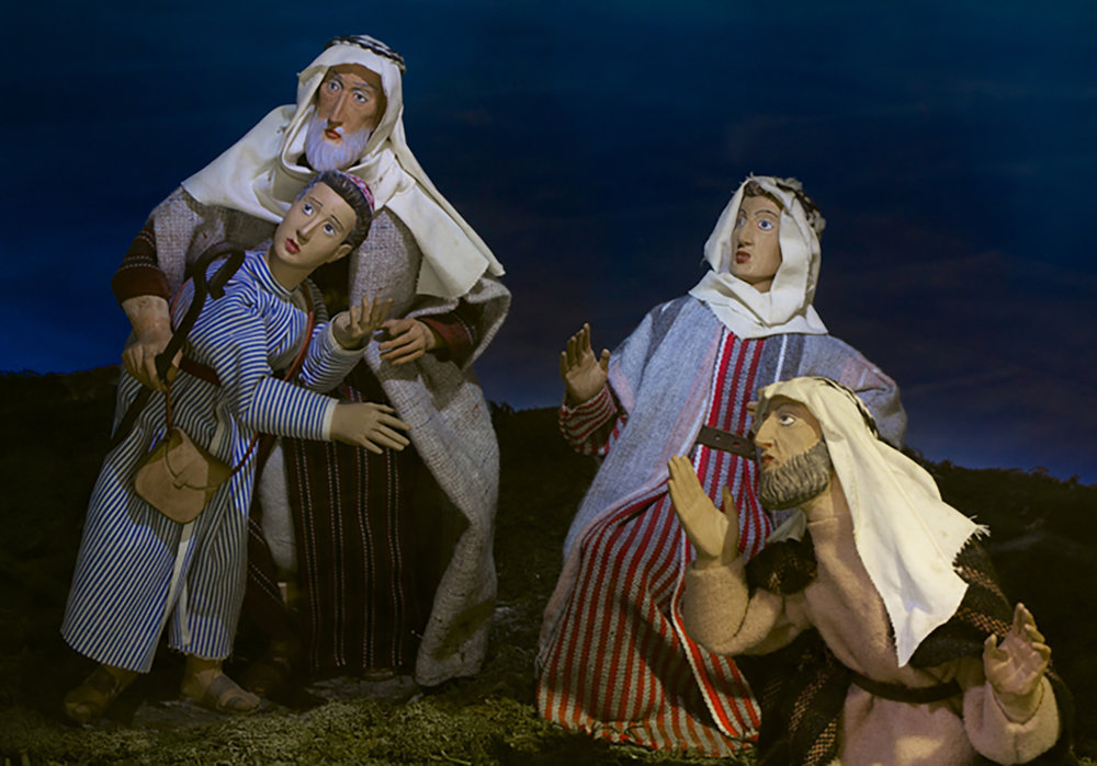 Figure 4: The Annunciation to the Shepherds, one of the Nativity scenes from the Eisenhower White House now on exhibit in Gettysburg. Photo: Ed Gyllenhaal.
