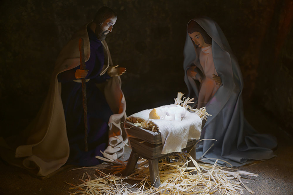 Figure 6: The Christ Child, Mary, and Joseph; one of the Nativity scenes from the Eisenhower White House now on exhibit in Gettysburg. Photo: Ed Gyllenhaal.
