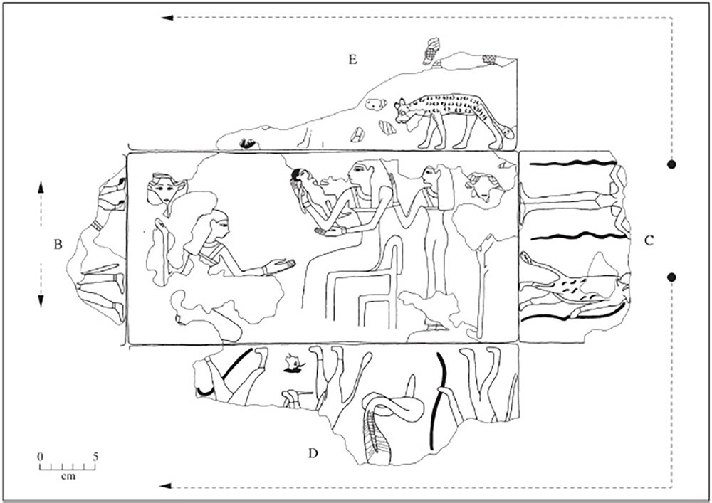 Figure 18a: Reconstructed line drawing of figures on the edges.