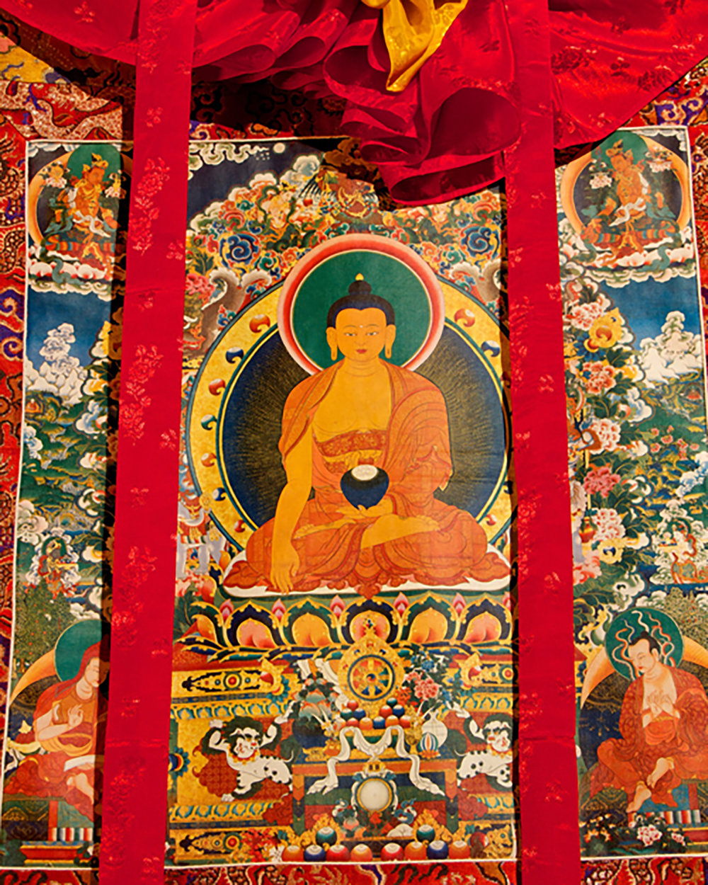 Figure 10: Cloth Painting with Auspicious Symbols on Altar