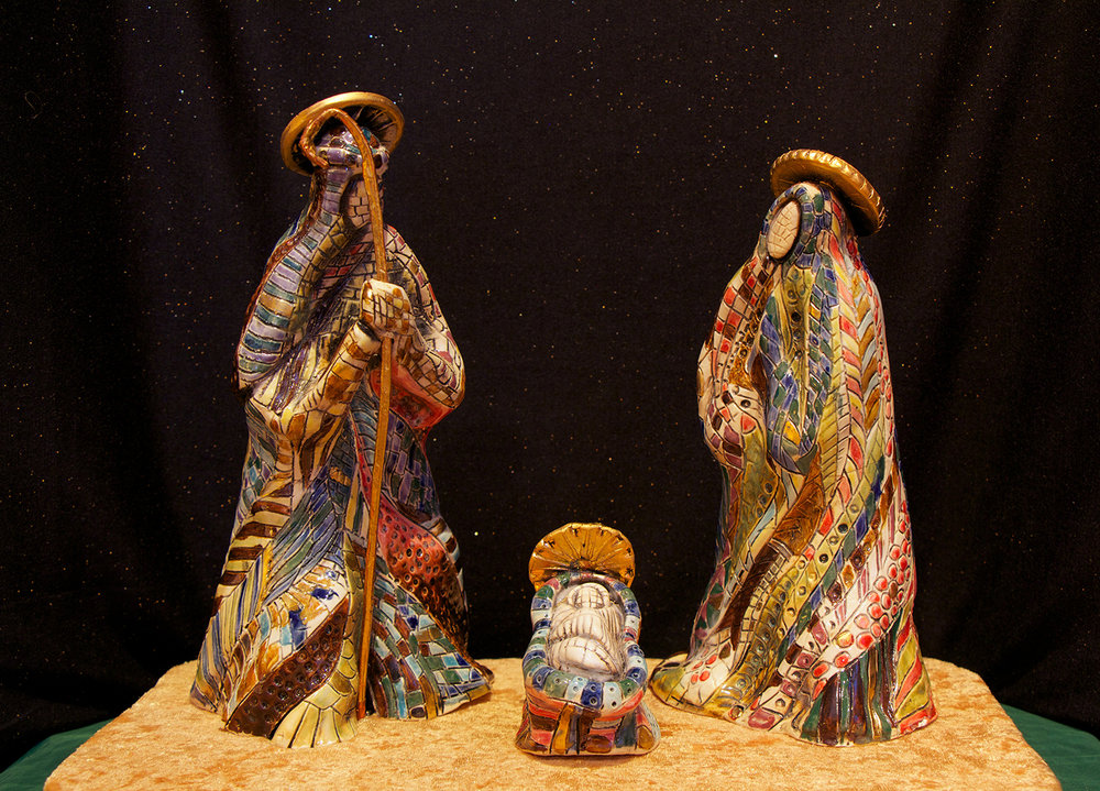 Figure 1: Ceramic Holy Family by Angel Allen: Mepkin Abbey Collection.