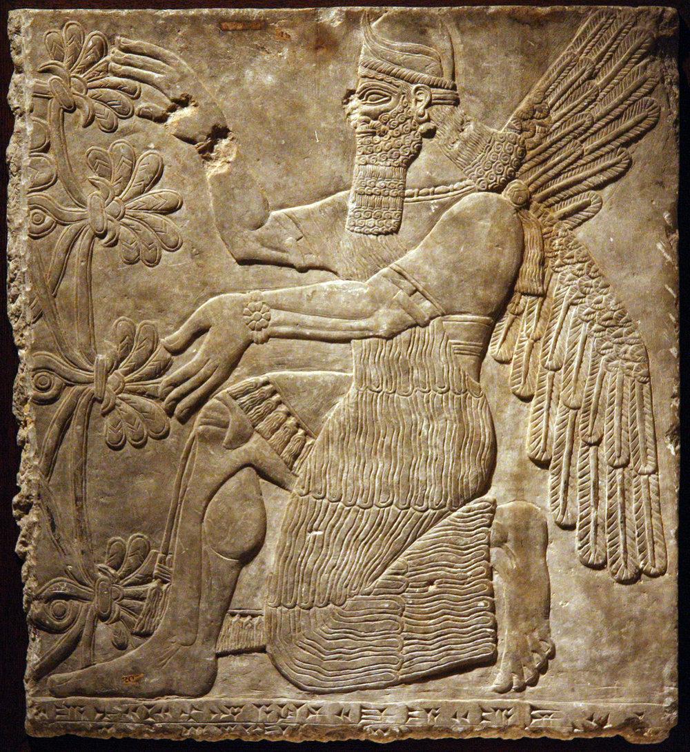 Figure 1: Kneeling genie (09.SP.1549).