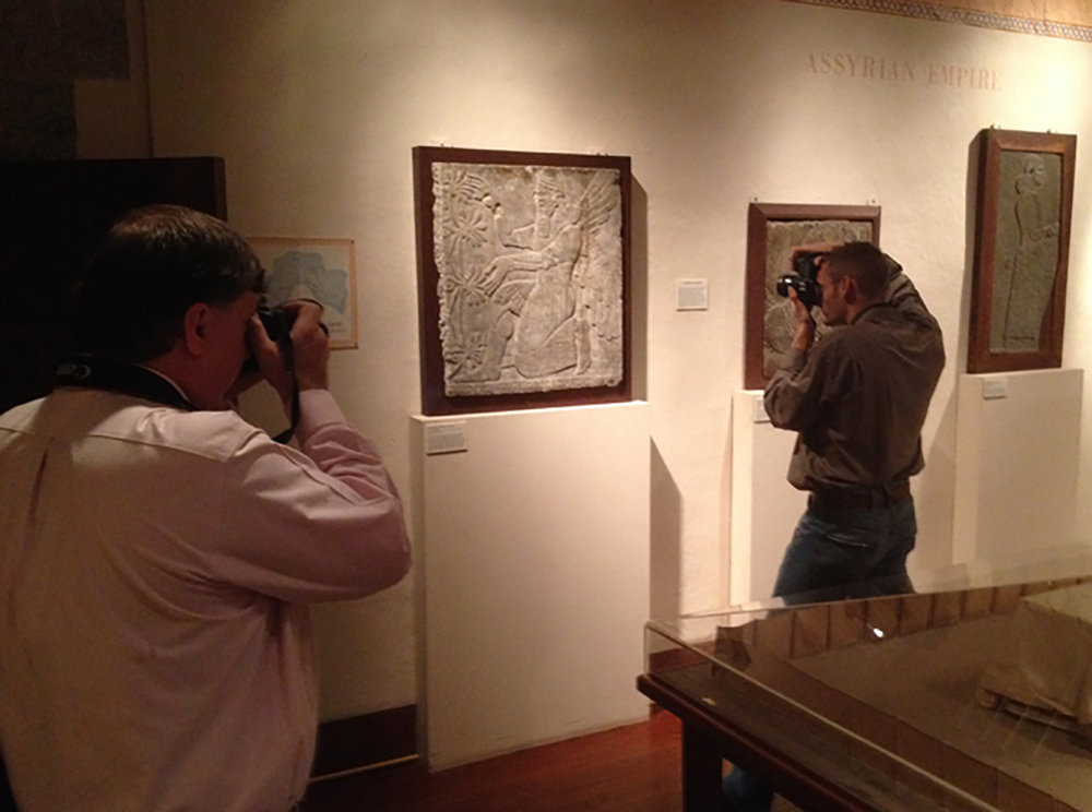 Figure 3: Photography in Glencairn's Ancient Near East Gallery.