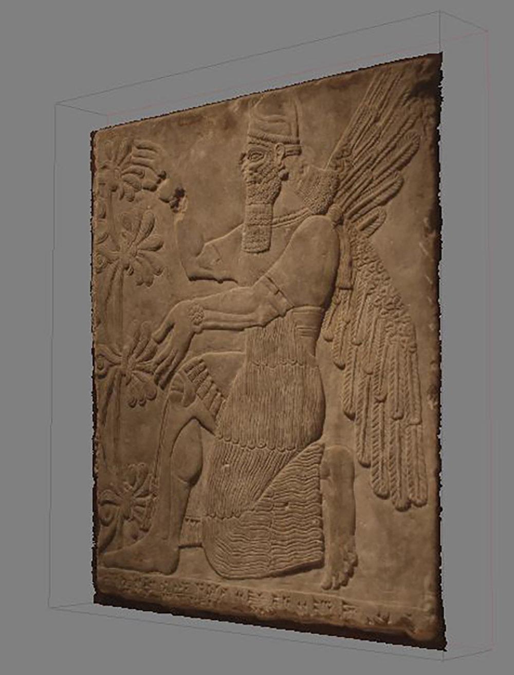 Figure 7: Virtual image of kneeling genie (09.SP.1549).