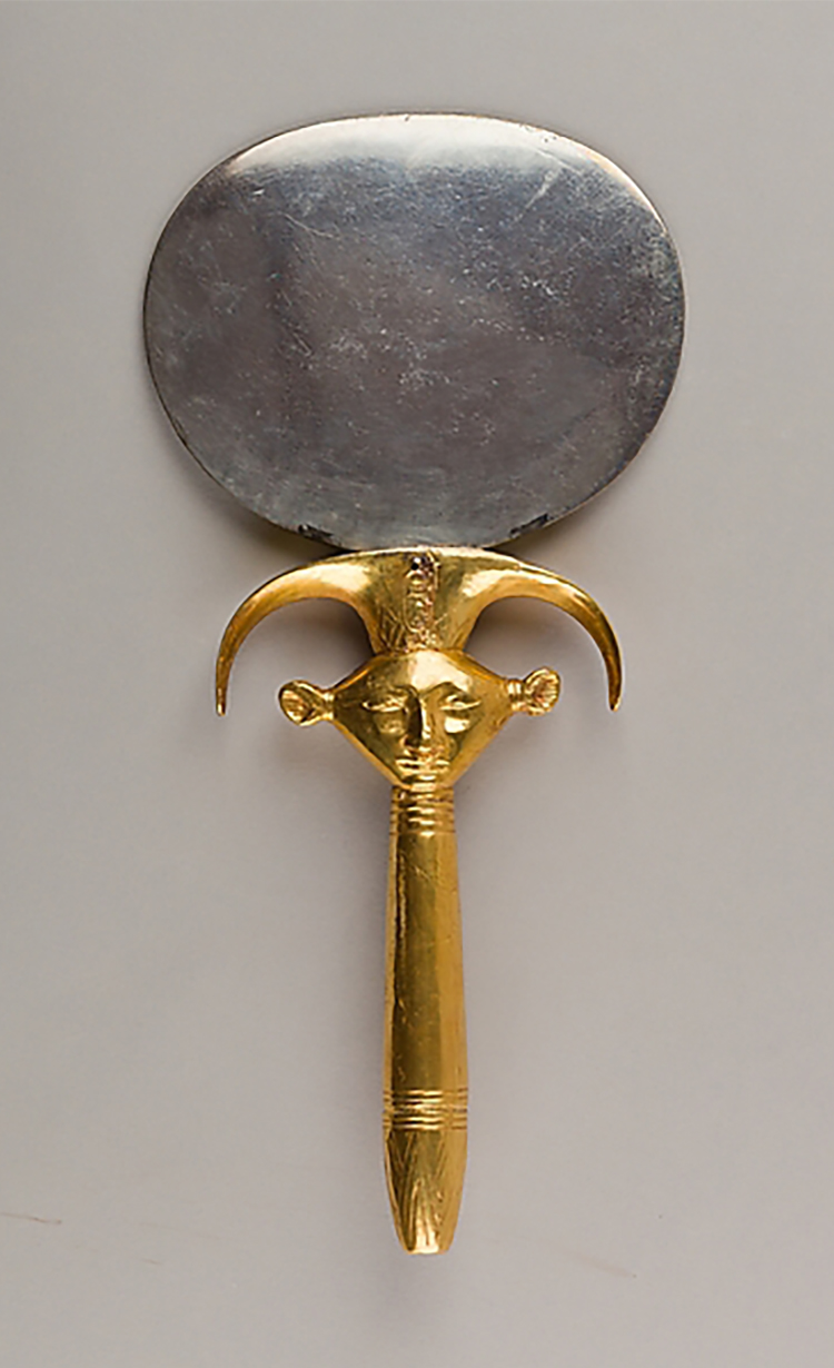 Figure 6: Mirror with a Hathor head handle, Fletcher Fund, 1919, 1920, Metropolitan Museum of Art, 26.8.97. Image courtesy of The Metropolitan Museum of Art, NYC.