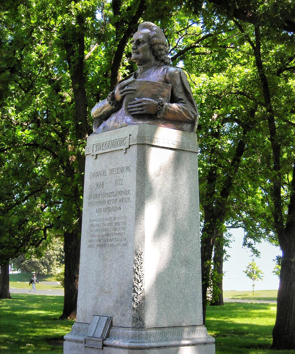 Figure 2: The reinstalled bronze Swedenborg bust in Lincoln Park, Chicago (2012).