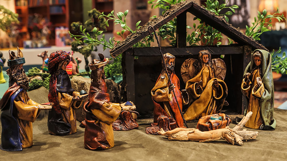 Figure 2: Mexican leather Nativity made by Armando Guzman.