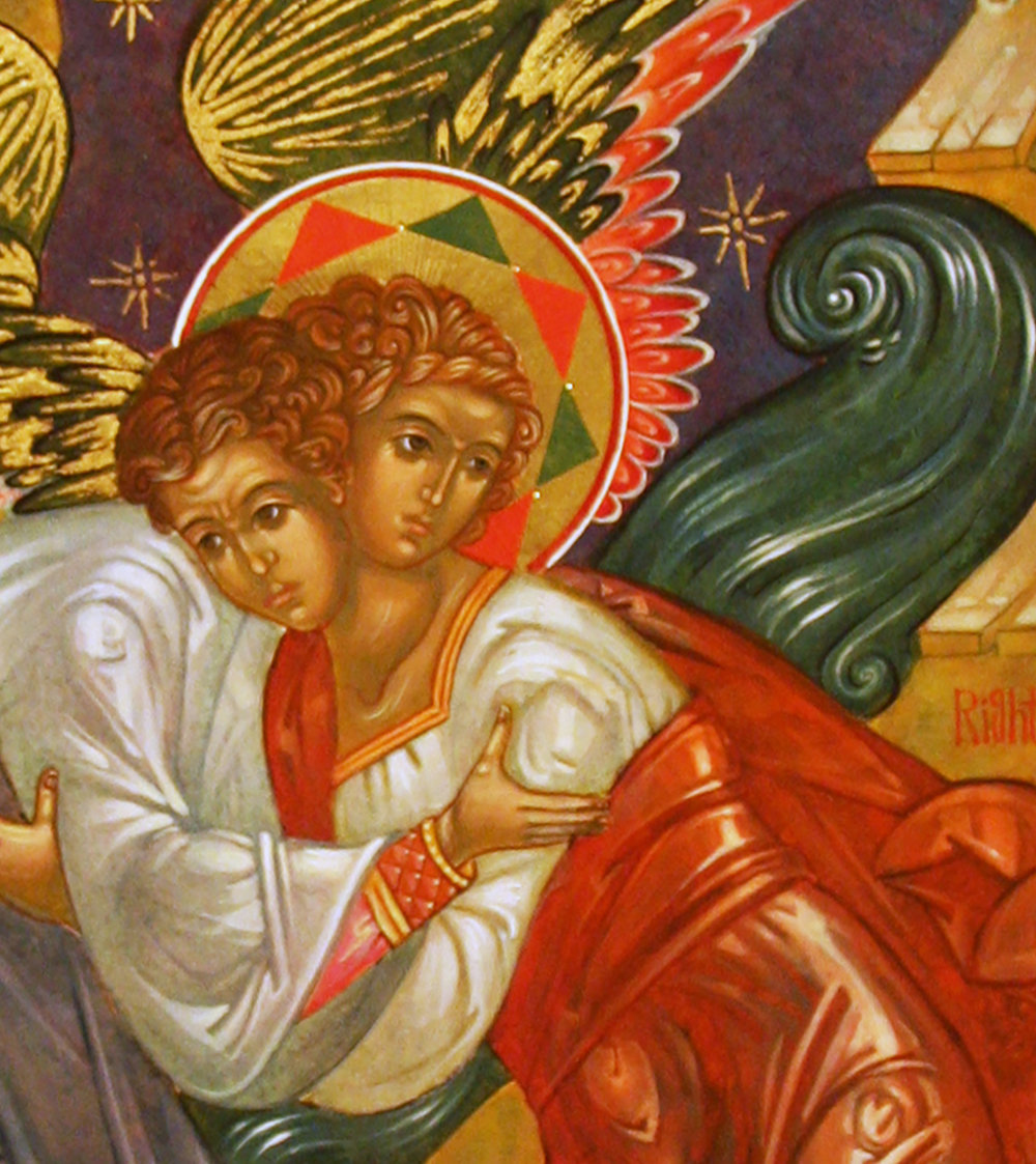 "Figure 2: ""Jacob Wrestling with the Angel"" (Genesis 32:26, 30)."