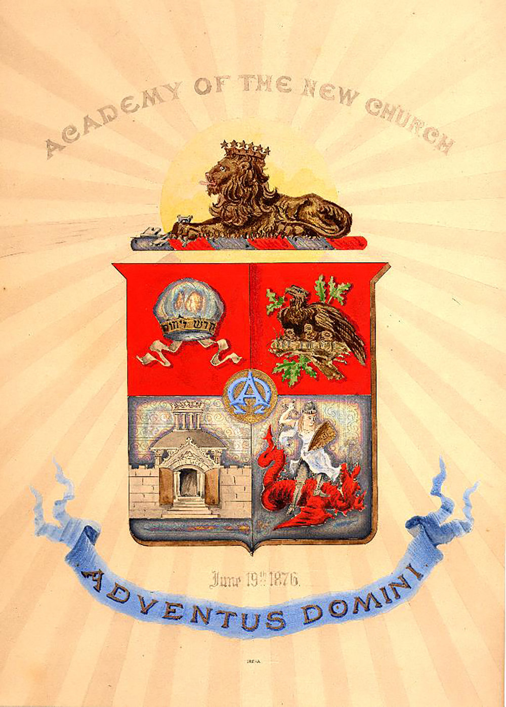 Figure 6: A formal design for the Academy seal was produced by the Dreka engraving house in Philadelphia. It was completed in 1878.